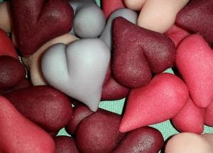 Marsipanhjärtan till Valentine