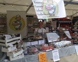 Madame Marzipan på marknader i Skåne
