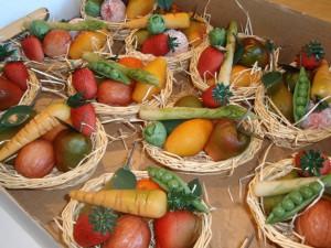 Grönsaker i Marsipan